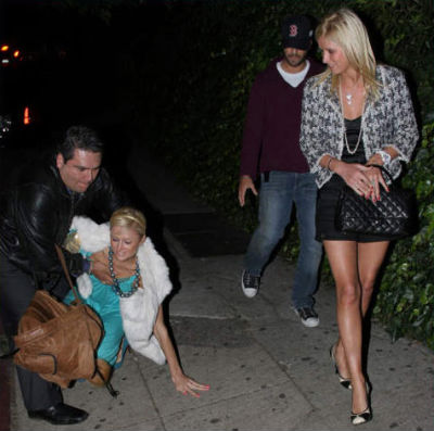 from Theodore paris hilton so drunk she wets herself in public