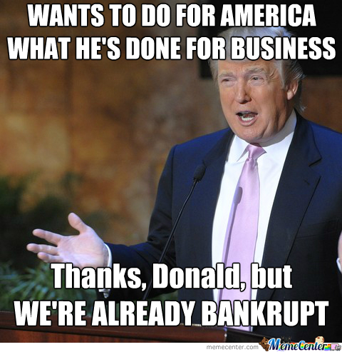 bankrupt 10 donald trump memes to get you in the voting mood likesharetweet