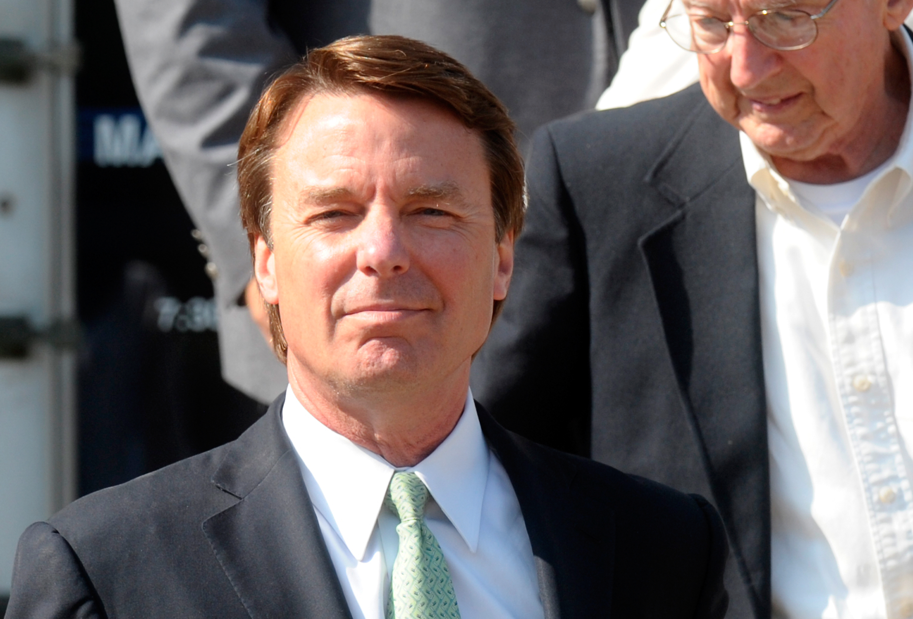 GREENSBORO, NC - MAY 31: Former U.S. Sen. John Edwards exits the federal court May 31, 2012 in Greensboro, North Carolina. Edwards was acquitted on one count and a mistrial was declared on the five other counts after nine-days of jury deliberations in his corruption trial. (Photo by Sara D. Davis/Getty Images)