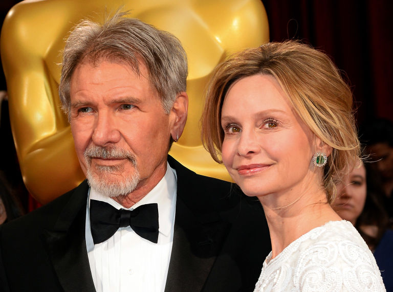 how did harrison ford meet calista flockhart