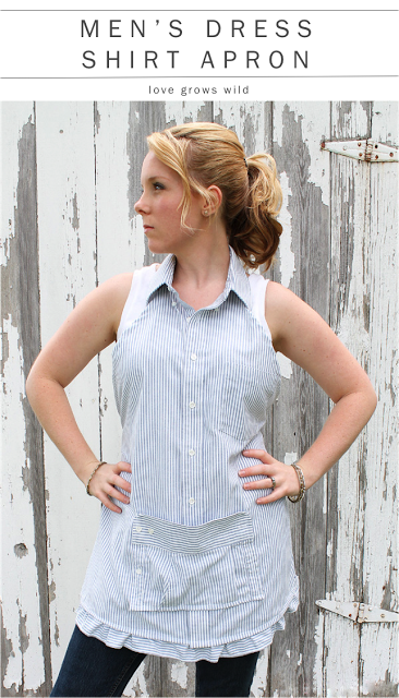 Kitchen with a Shirt Apron Tutorial
